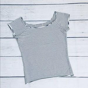 Hollister striped crop T-shirt xs